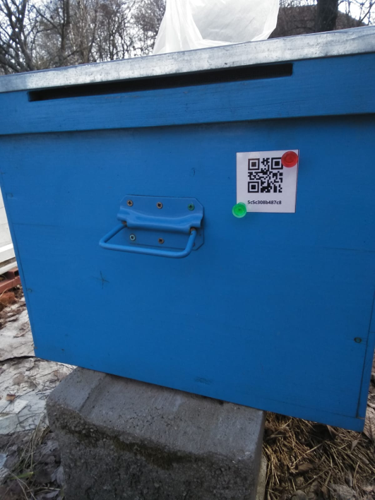 QR-Code on Bee Hive